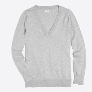 J. Crew factory gray v-neck sweater